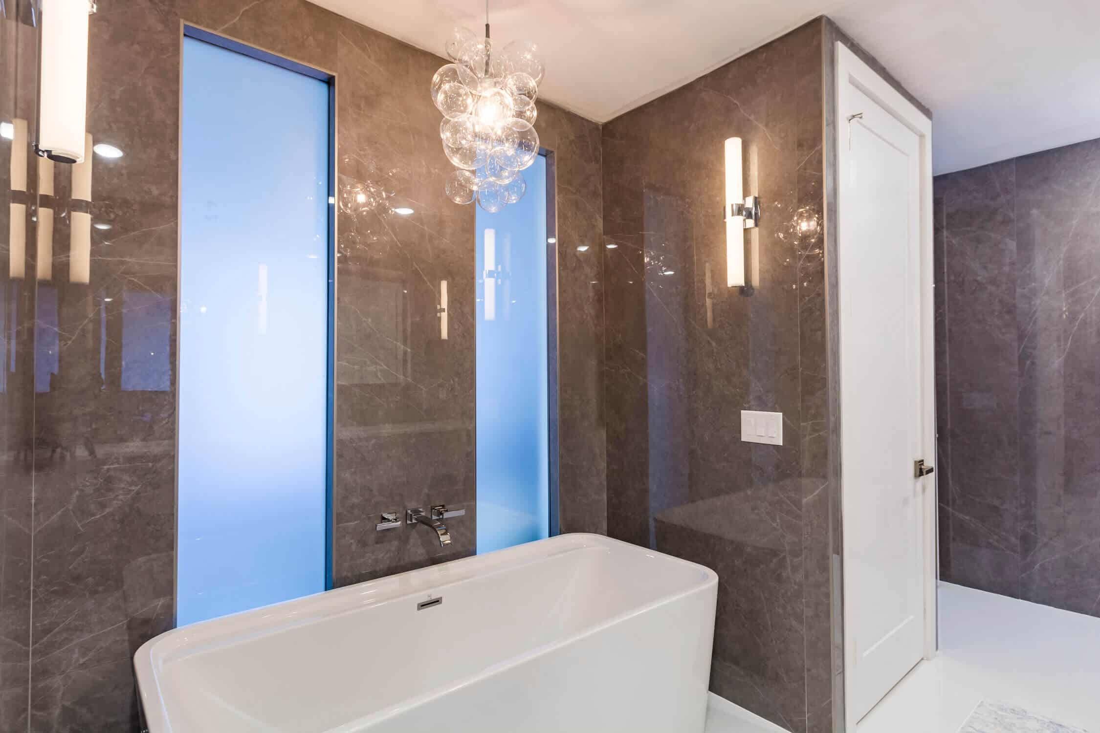 bathroom bath area