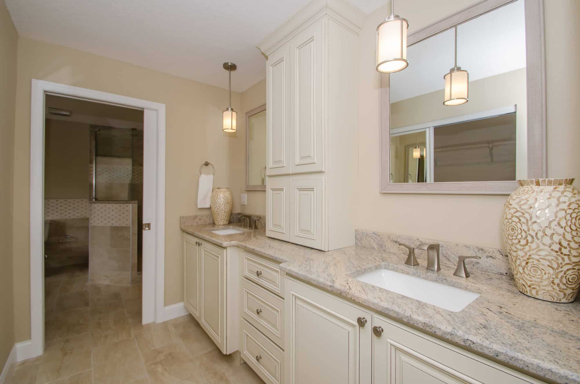 Bath remodel with new cabinetry
