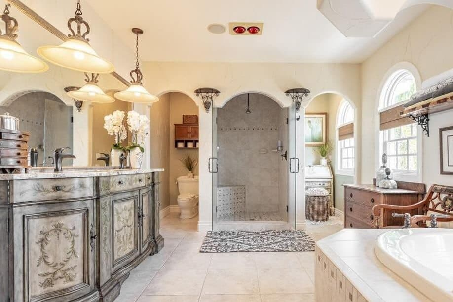 Bathroom featuring Mediterranean style