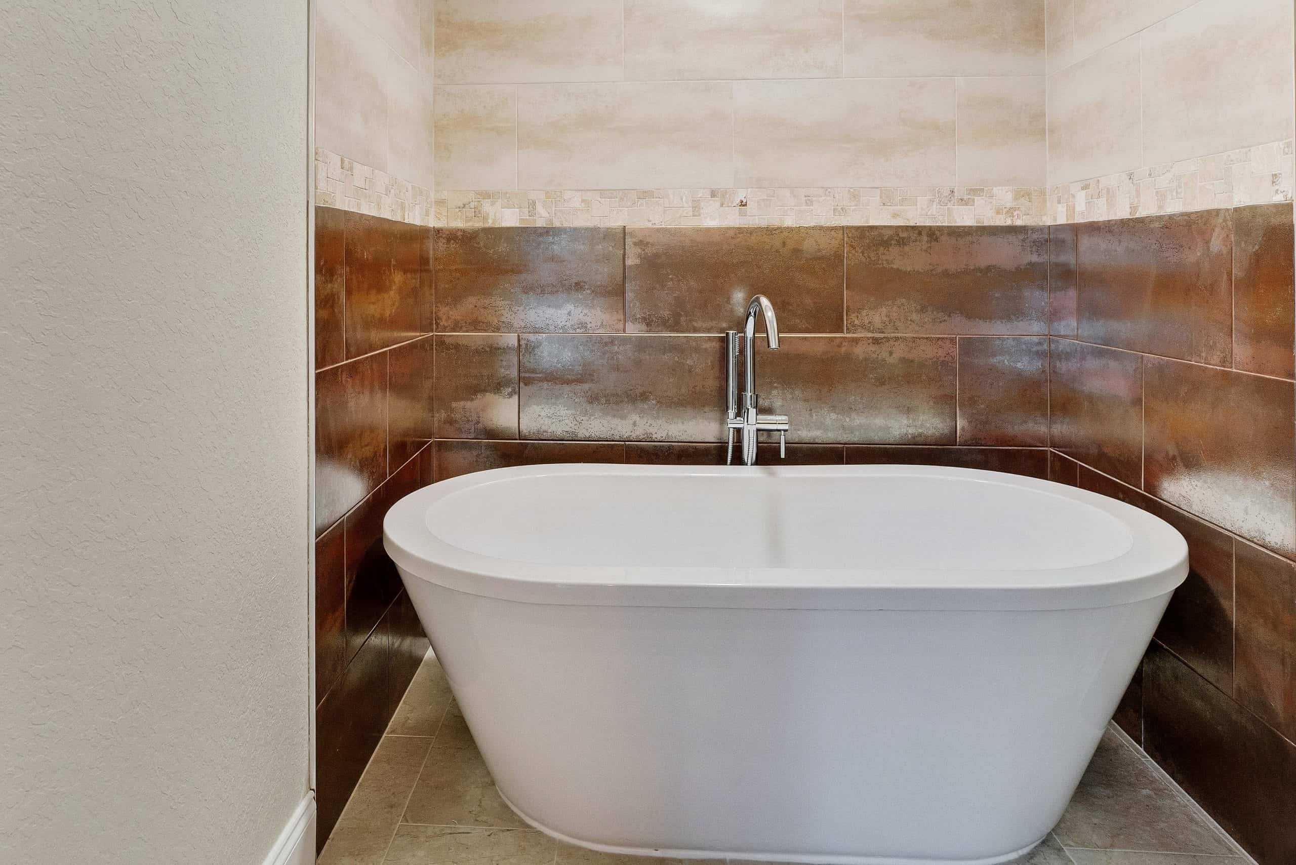 Bathroom remodel with free standing tub
