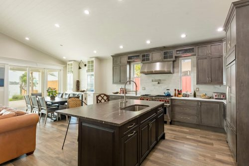Home Remodel featuring Leather granite countertops