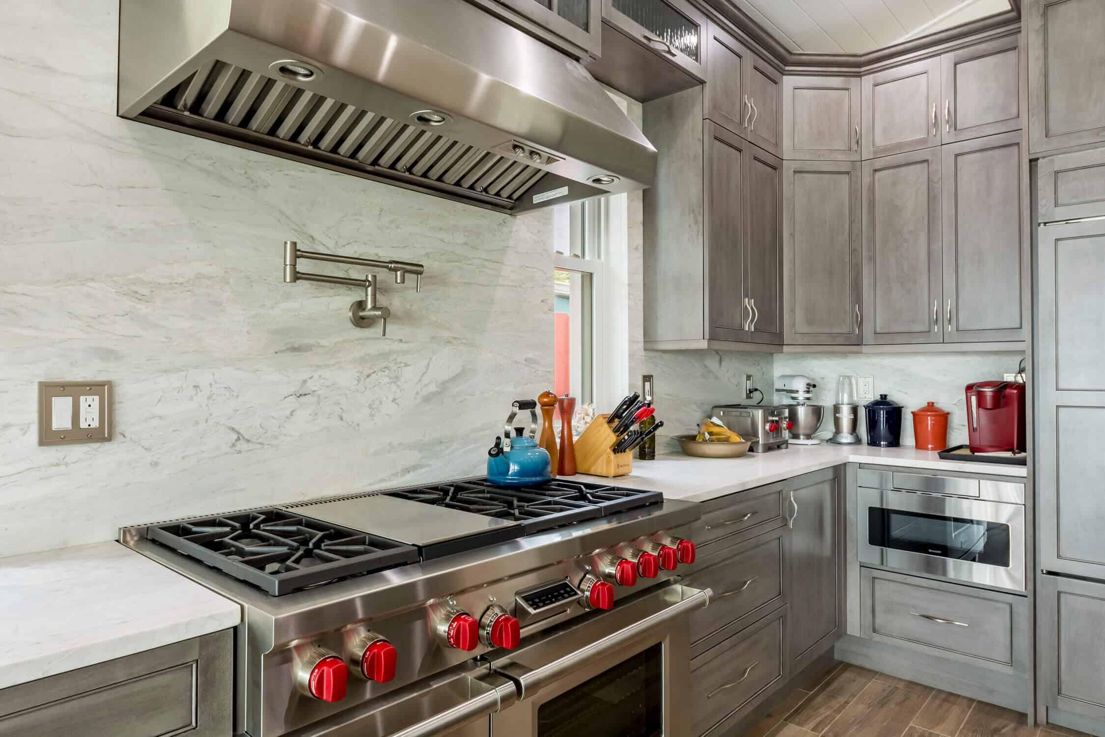 Kitchen Remodel featuring Marble Backsplash