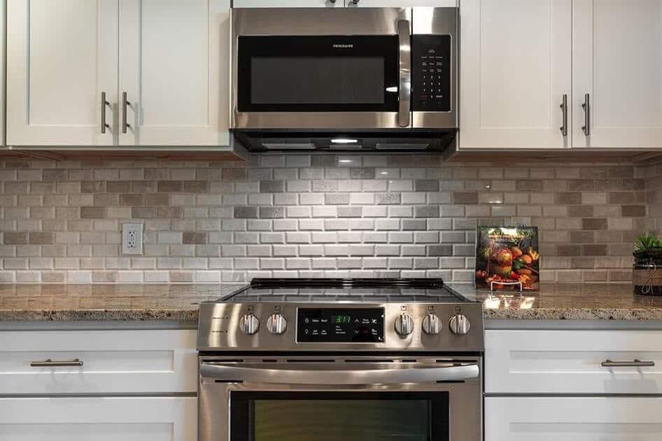 Tile Backsplash in a Remodeled Kitchen