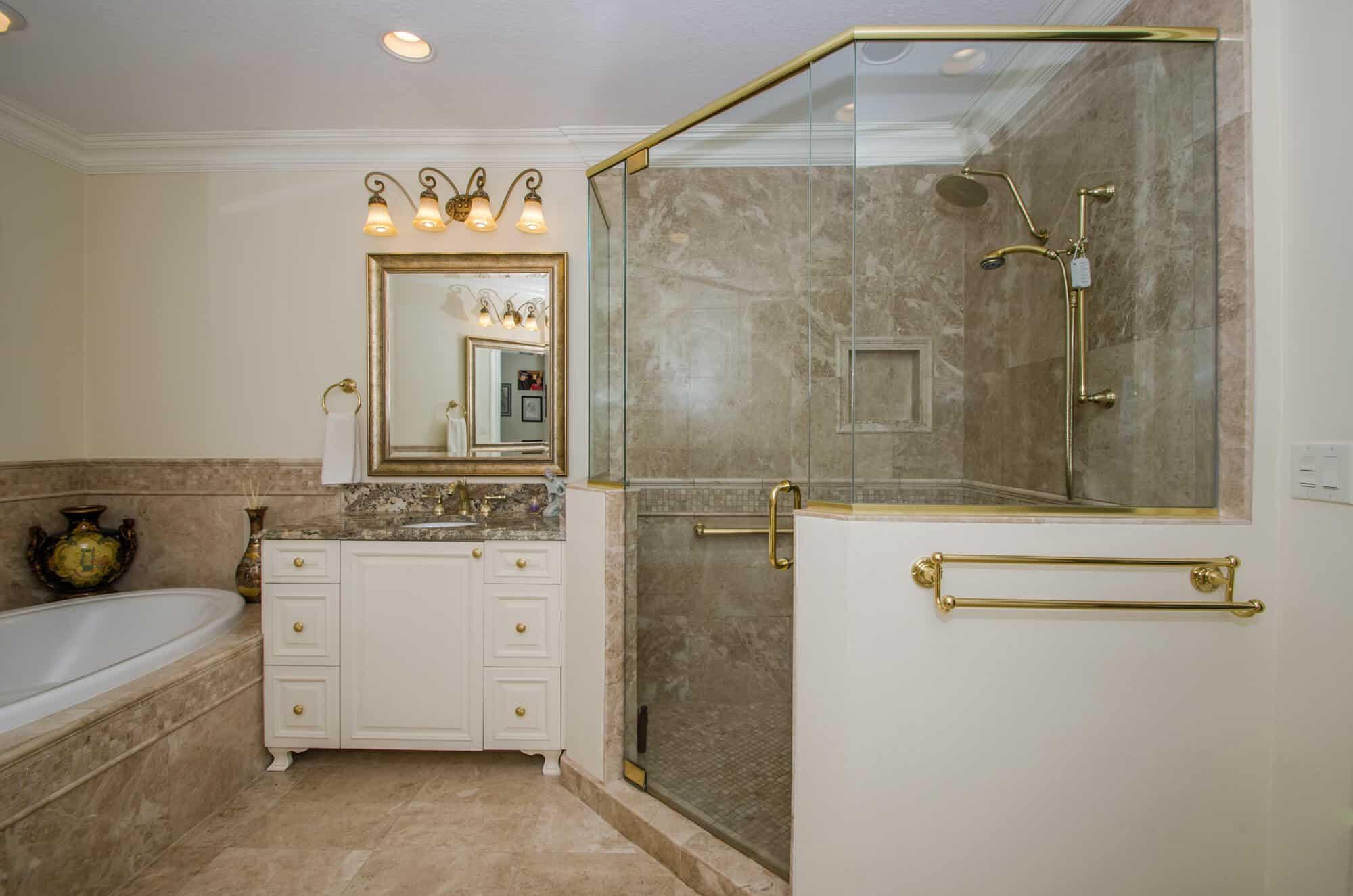 beautiful bath in condo remodel