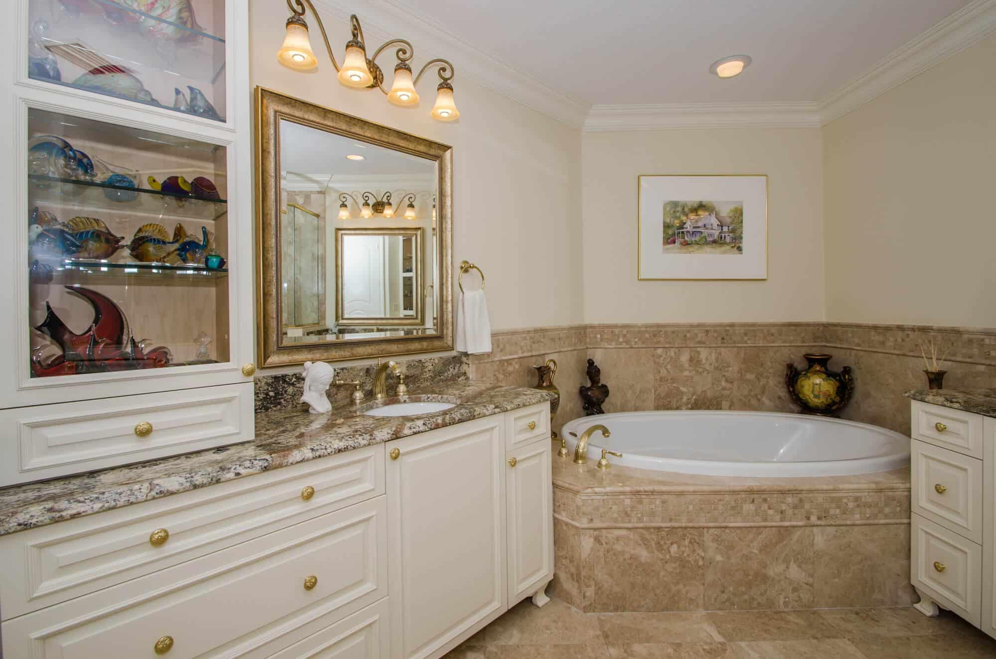 condo bath remodel with custom cabinetry