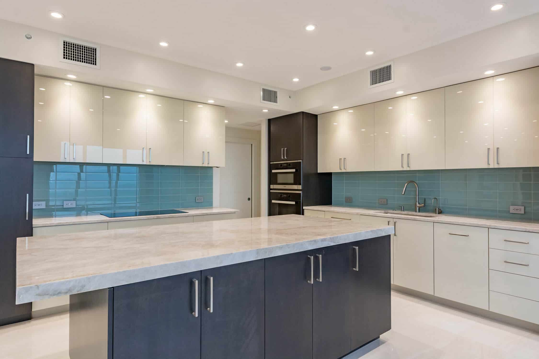 condo kitchen remodel with solid surface counters