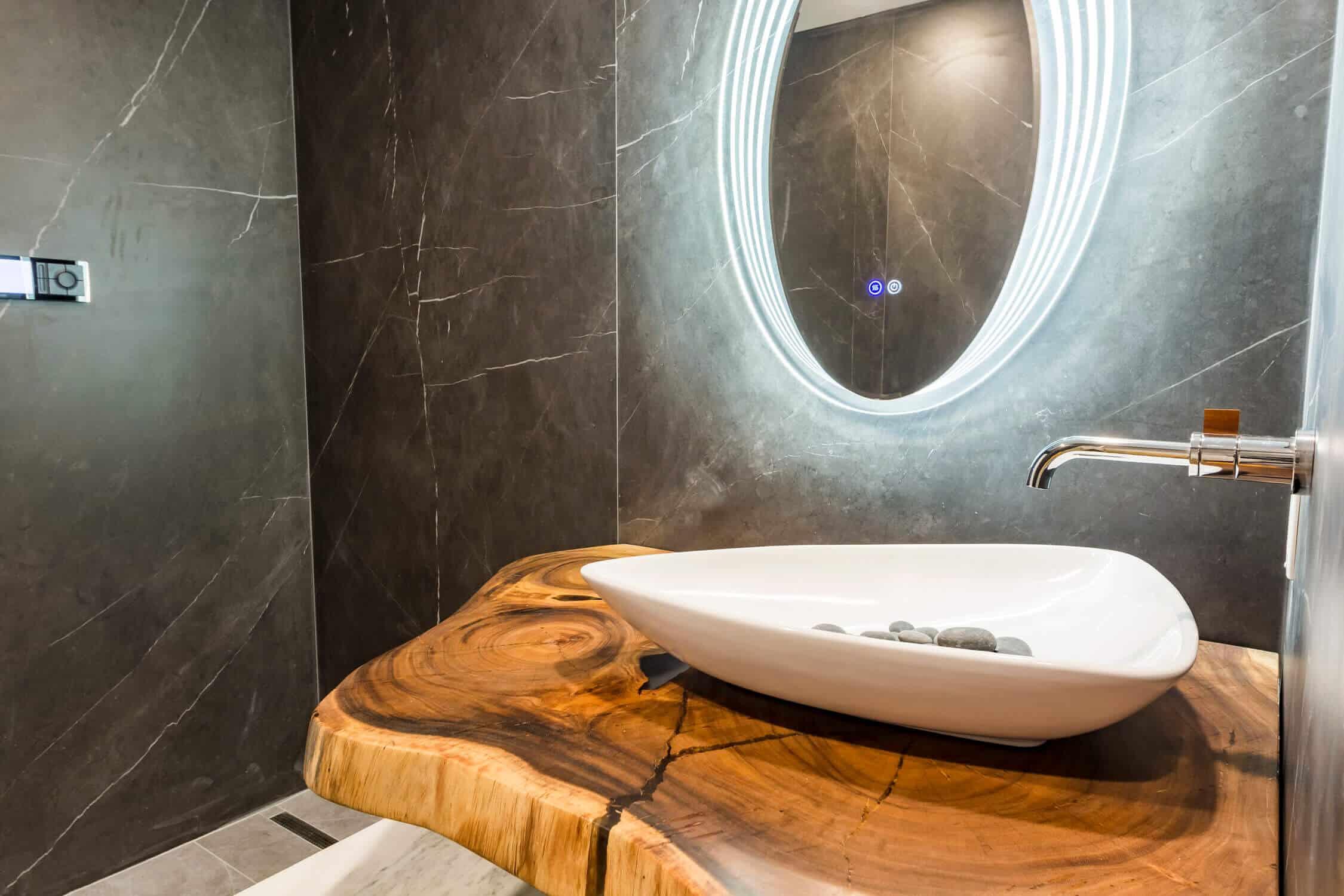 elegant condo bath renovation
