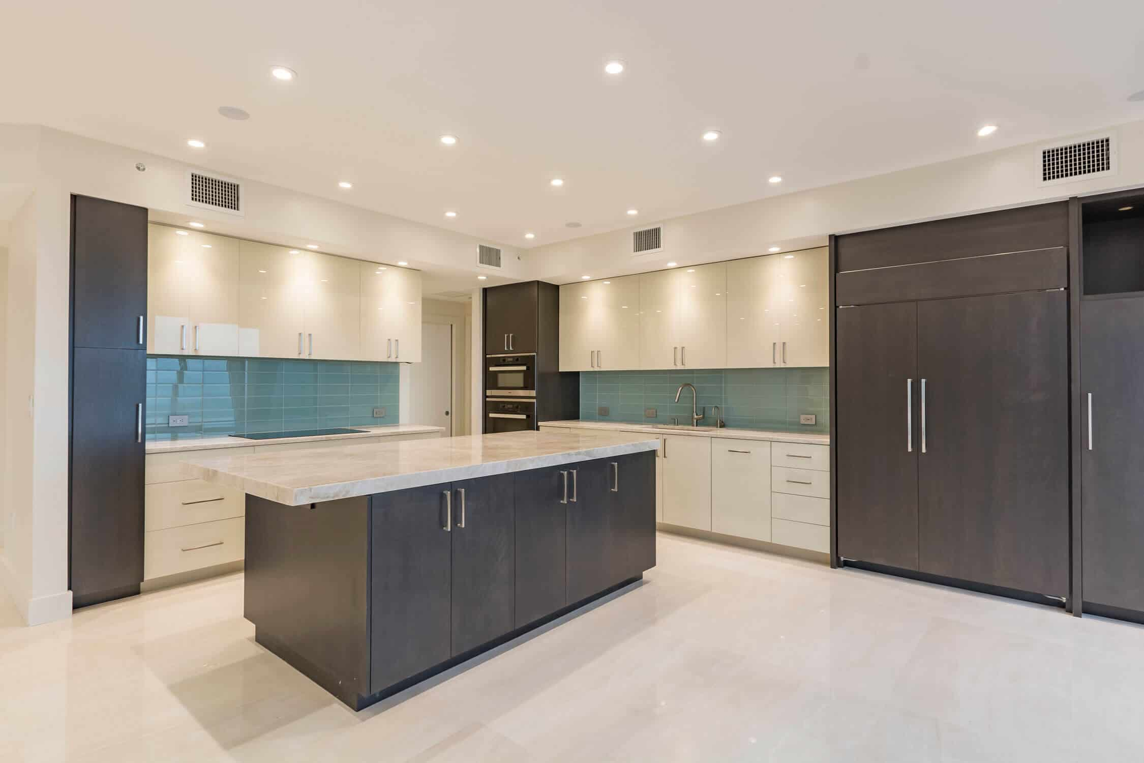 elegant kitchen in condo remodel