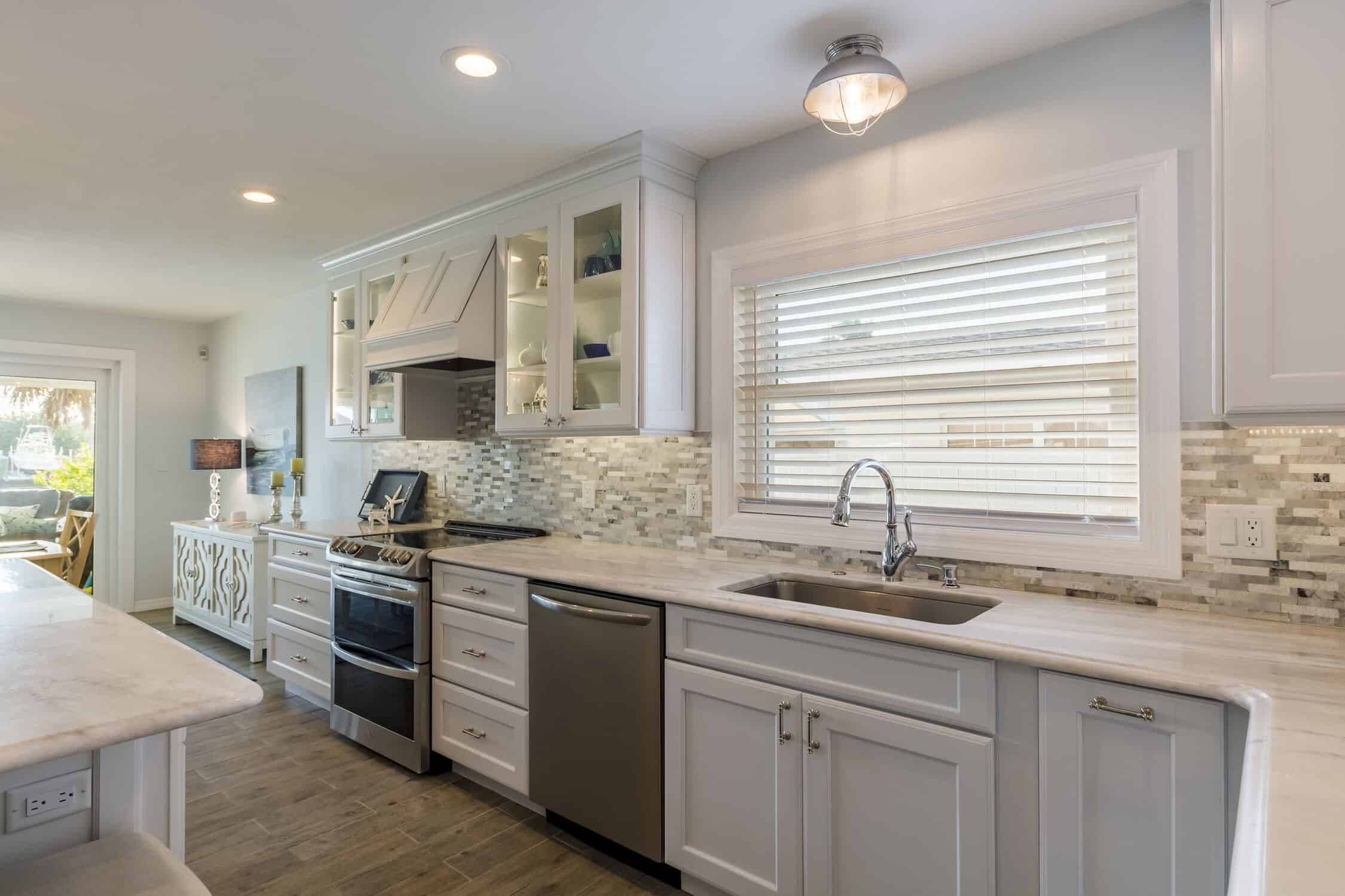 kitchen with remodeled sink and counters