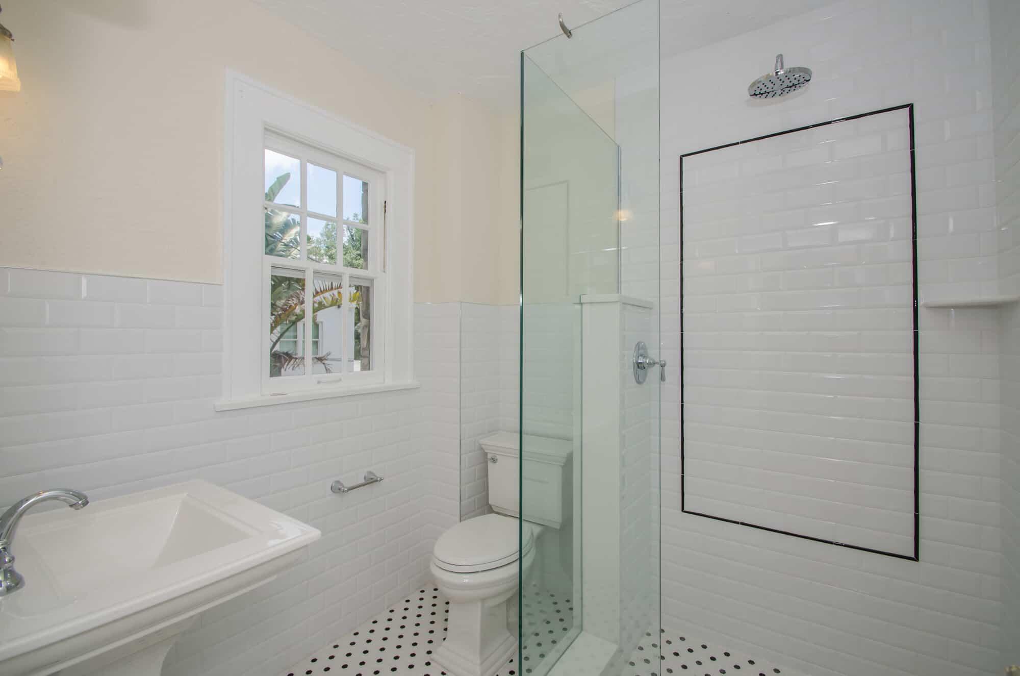 vintage shower bath remodel