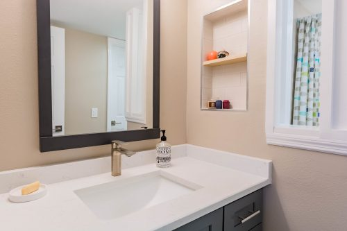 condo remodeling with new bathroom