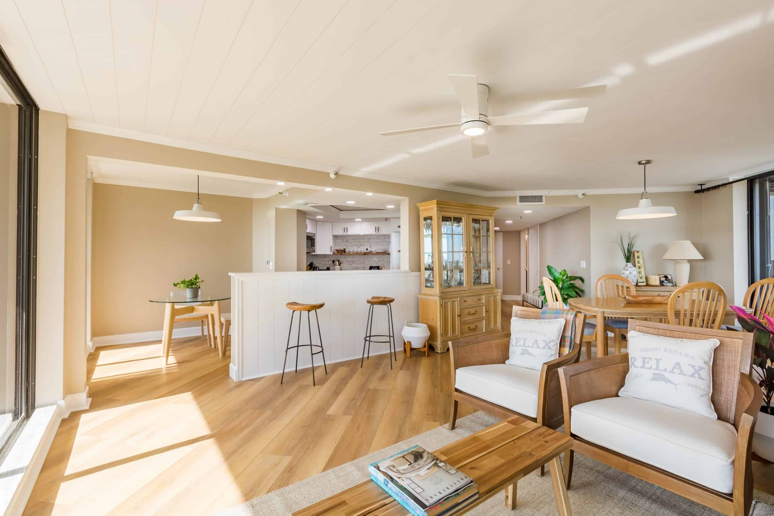 open plan for condo remodeling
