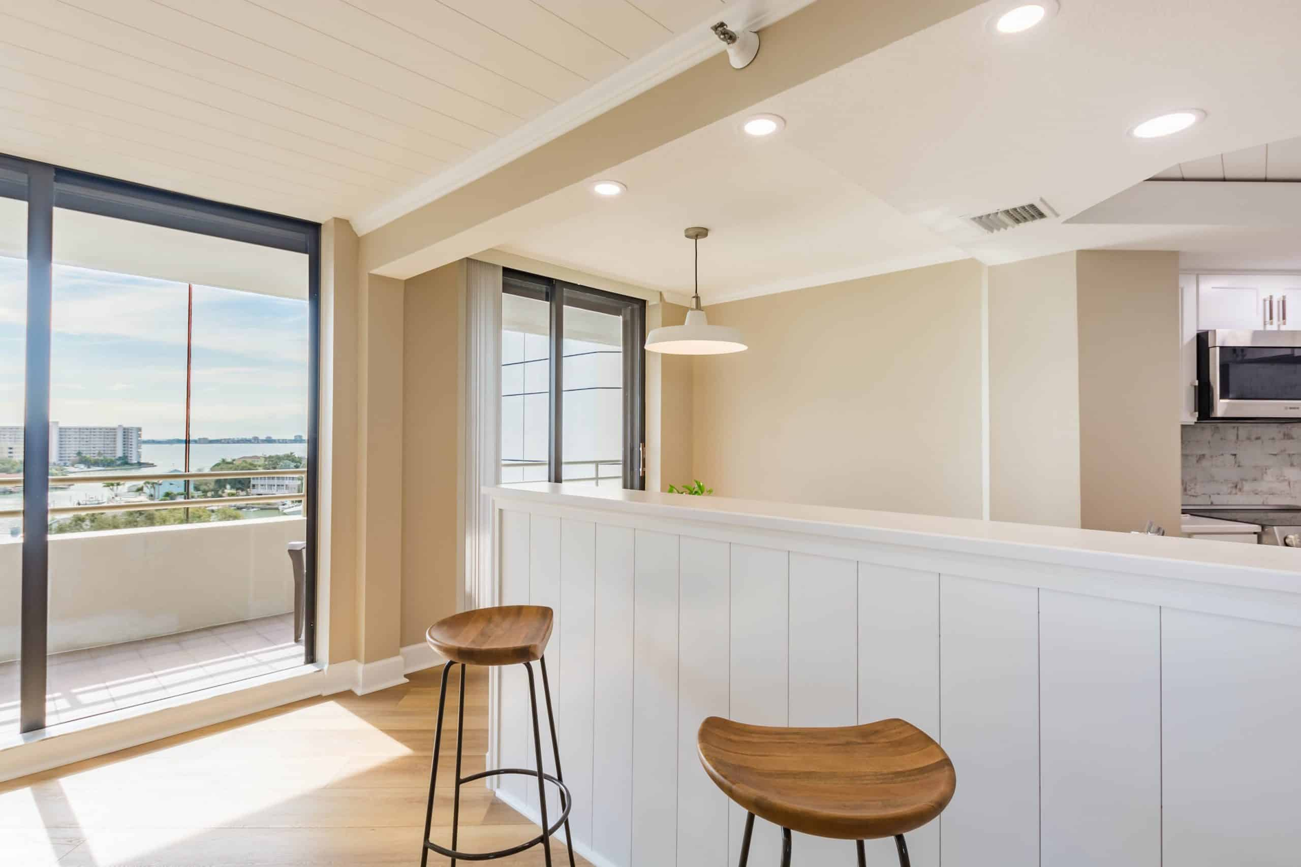 view of windows in kitchen remodeling in Pelican Beach