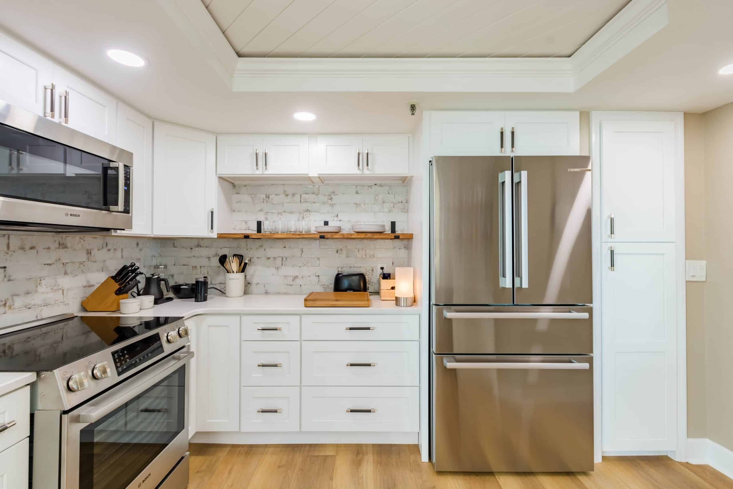 refrigerator in kitchen remodeling in Pelican Beach