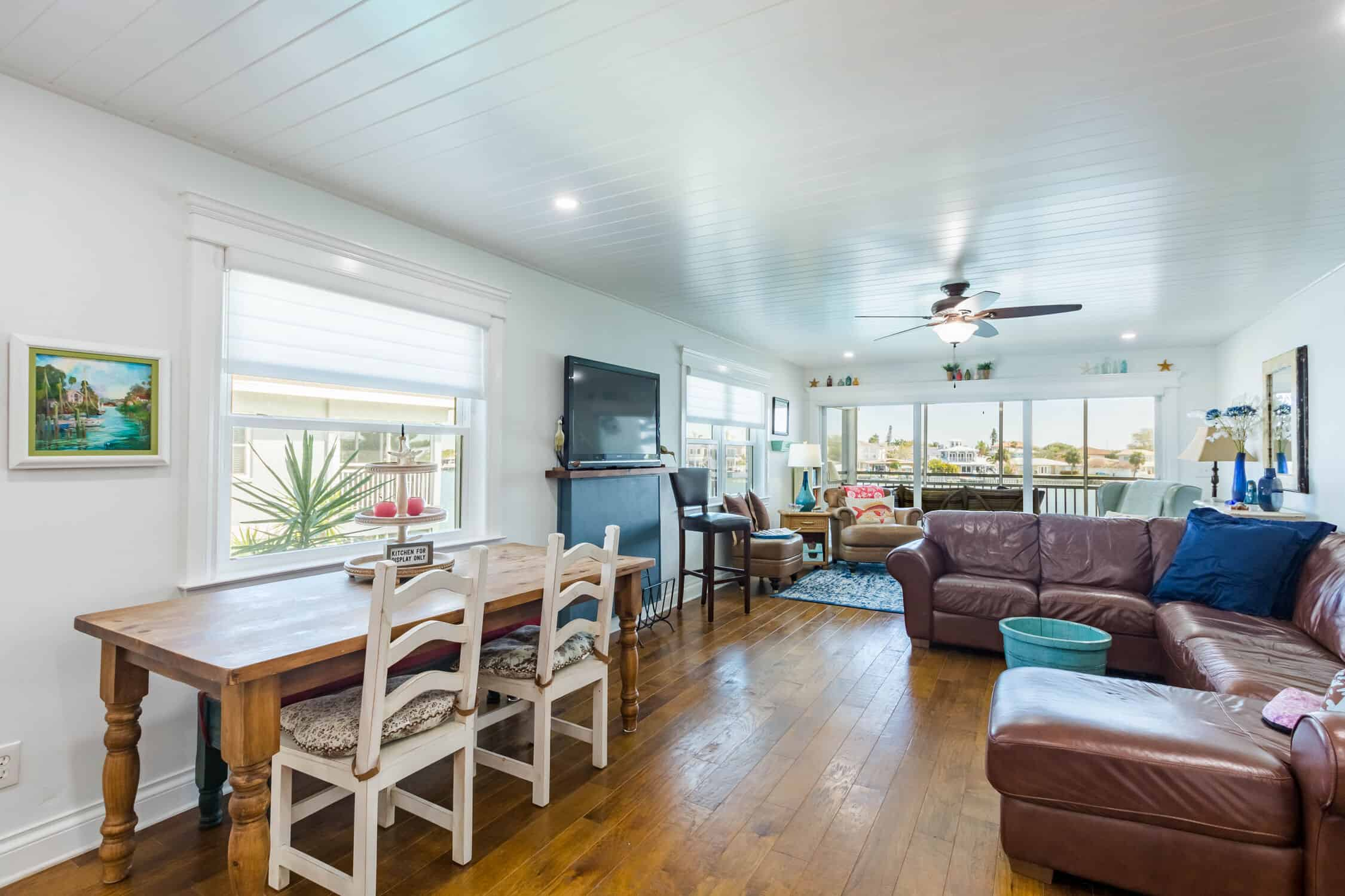 Indian Rocks Beach Kitchen Remodel with new stained floors