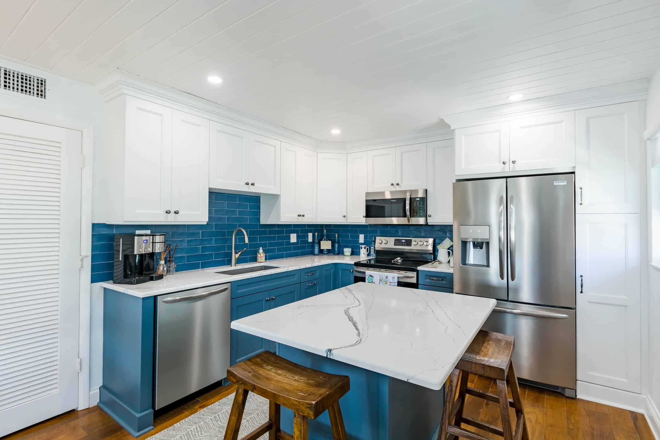 Indian Rocks Beach Kitchen Remodeling from entrance of Indian Shores home