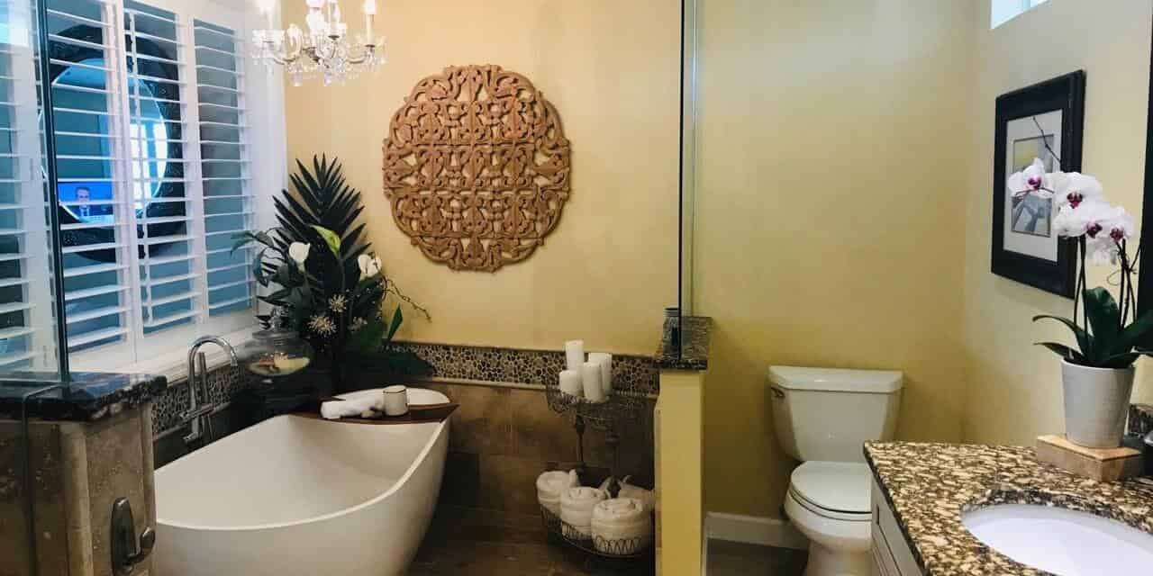 spacious and private bathroom remodel